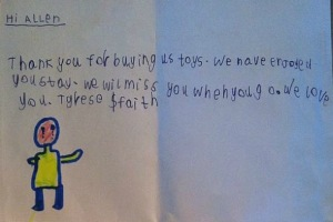 Kenya Letter From Kids